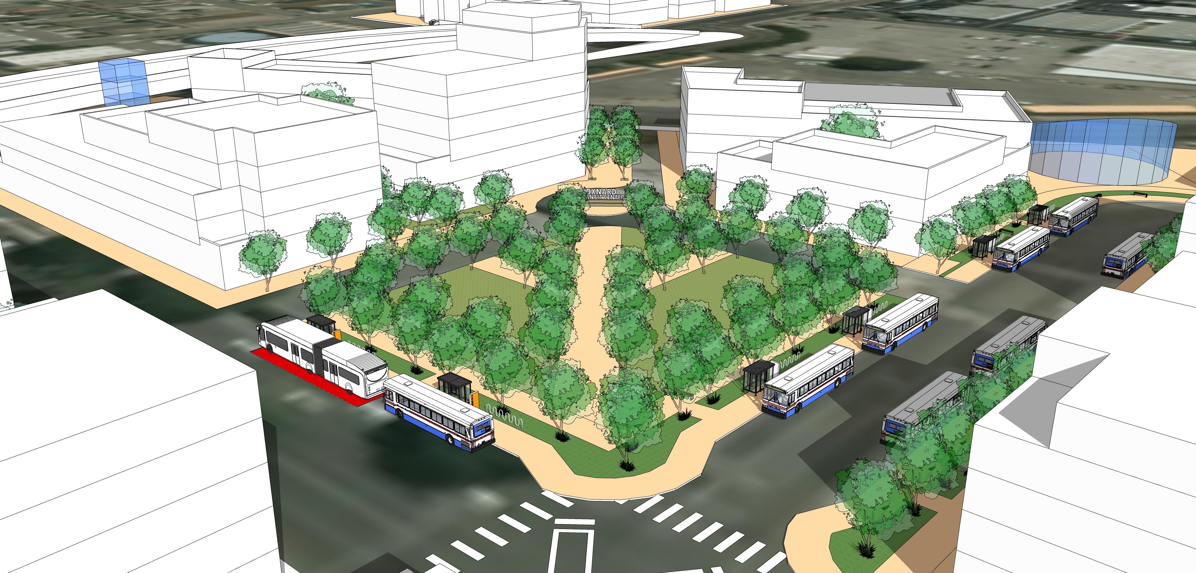 Oxnard Model_Transit Plaza