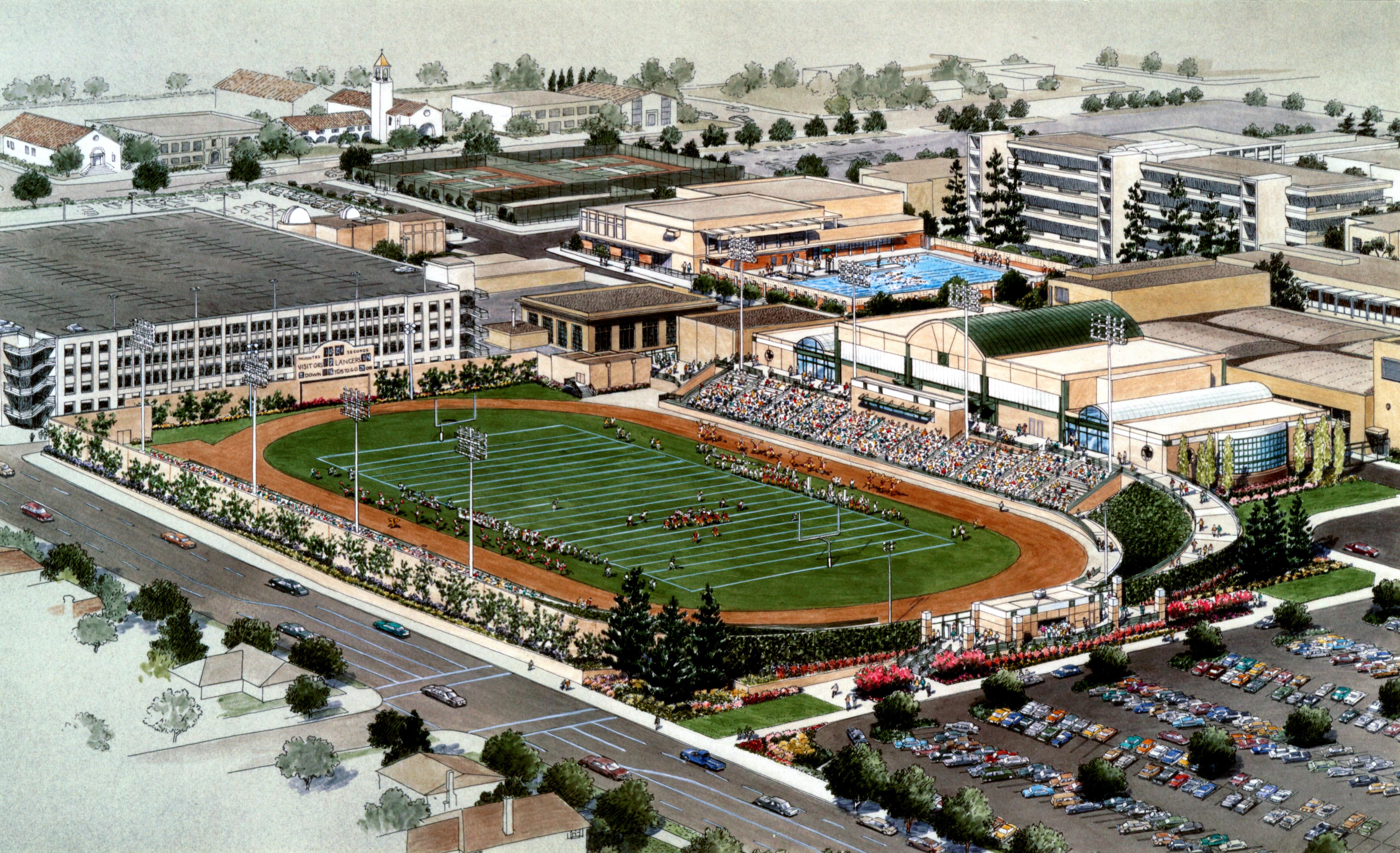 Pasadena City College Physical Education Facilities Gym Building 01